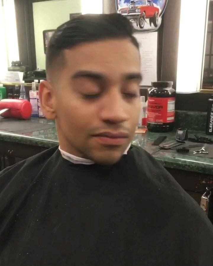 #boomerang 🎥 Fade with a hard part done by Kiersten💈