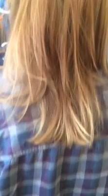 I'm just in love with this morning's color creation!  Beautiful blended caramel and blond!