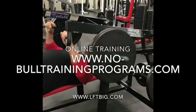 PLEASE CHECK OUT MY NEW ONLINE TRAINING:http://no-bulltrainingprograms.comNEW ONLONE PERFORMANCE NUTRITION Suppliments A...